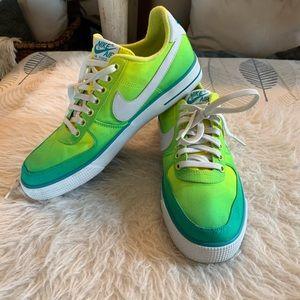 Nike Air Force 1 Sz 10 Green Yellow Ombré 2014